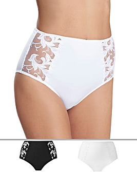 2Pack Flora Black/White Briefs