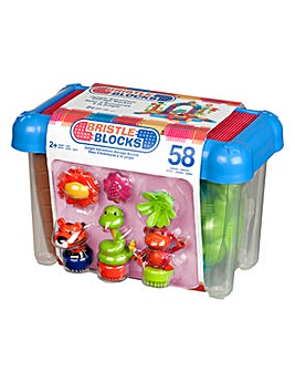 Bristle Blocks 58pc Jungle Bucket