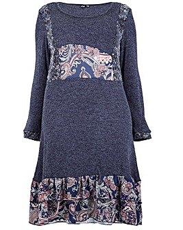 Izabel London Curve Patchwork Dress