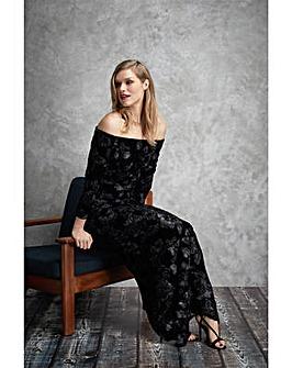 Gina Bacconi Karlotta Velvet Maxi Dress