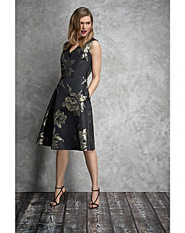 Gina Bacconi Jackie Jacquard Dress