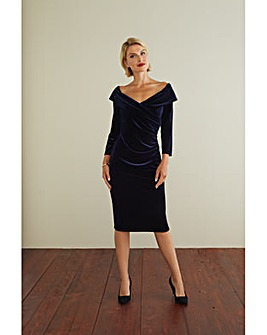 Gina Bacconi Bridget Velvet Dress