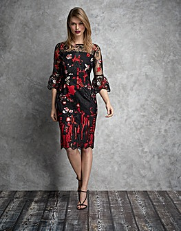 Gina Bacconi Marcella Embroidery Dress