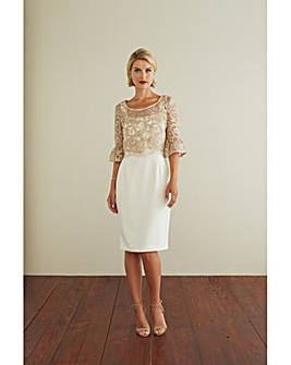 Gina Bacconi Marta Dress With Overtop