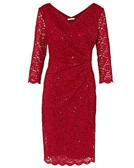 Gina Bacconi Aruna Sequin Lace Dress