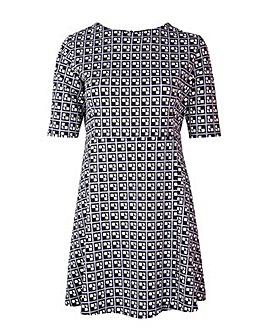 Lovedrobe GB Abstract Print Skater Dress