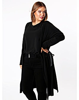 Lovedrobe GB Black Longline Cardigan