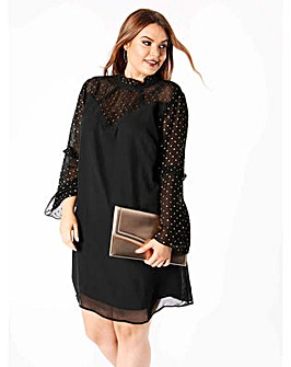 Koko Gold Spot Shift Dress