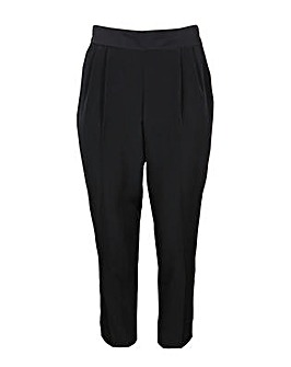 Lovedrobe GB Black Front Pleat Trousers