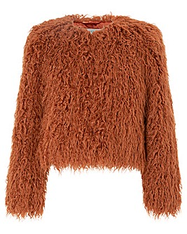 Monsoon Margaret Short Fur Coat