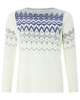 Monsoon Clara Cable Fairisle Jumper