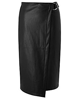 Monsoon Polly PU Wrap Skirt