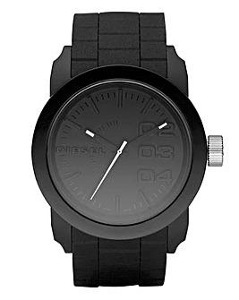 Diesel Unisex Double Down Silicon Watch - Black