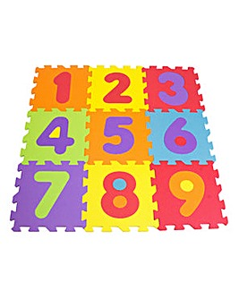 Numbers Floor Mat Puzzle with 9 Pieces
