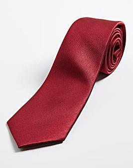 Burgundy Plain Tie