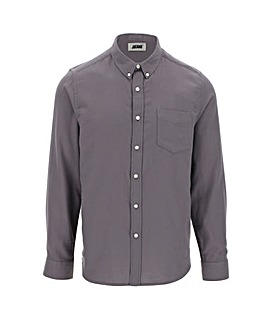 Charcoal Long Sleeve Flannel Shirt