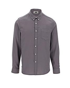 Charcoal Long Sleeve Flannel Shirt