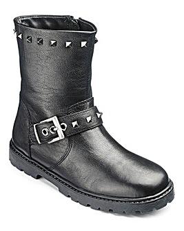 KD Girls Alexa Black Biker Boot