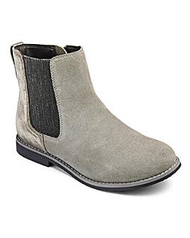 KD Girls Elsie Velour Chelsea Boots