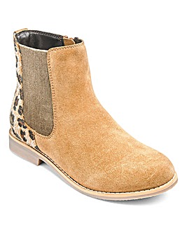 KD Girls Francesca Animal Chelsea Boots