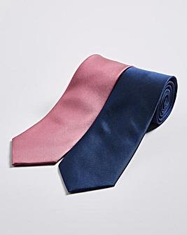 Pack 2 Blue/Pink Ties