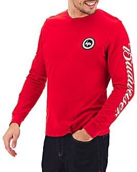 Hype Budweiser Logo Long Sleeved T-Shirt