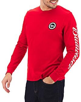 Hype Budweiser Logo Long Sleeved T-Shirt