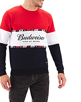 Hype Budweiser Logo Sweatshirt Long