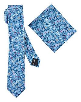 Ditsy Floral Print Tie & Pocket Square