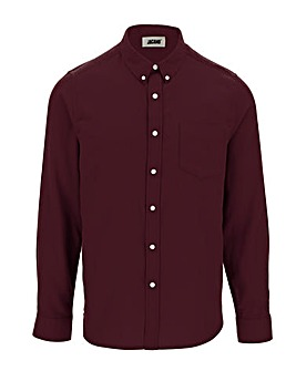 Wine Long Sleeve Flannel Shirt