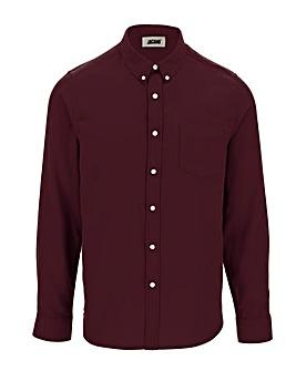 Wine Long Sleeve Flannel Shirt