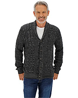 Charcoal Cable Button Cardigan
