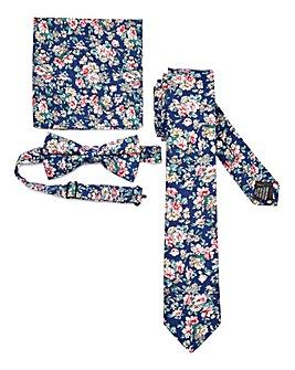 Floral Bow Tie, Tie & Pocket Square