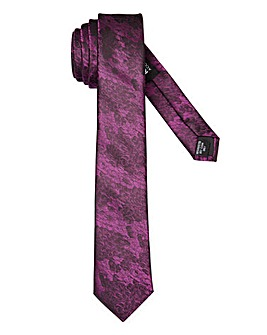 Purple Geo Print Slim Tie