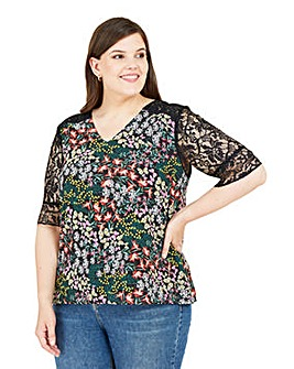 Yumi Curves Butterfly T-shirt Blouse