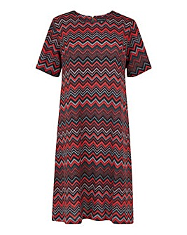 Mela London Curve Chevron Tunic Dress