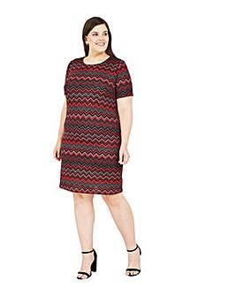 Mela London Curve Chevron Tunic Dress