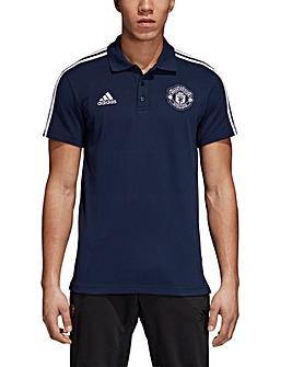 MUFC adidas 3 Stripe Polo