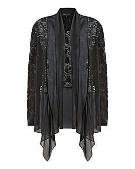 Mela London Curve Lace Waterfall Jacket