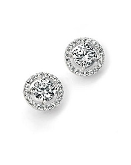 Sterling Silver Cluster Stud Earrings
