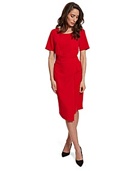 Gina Bacconi Lilianna Moss Crepe Dress