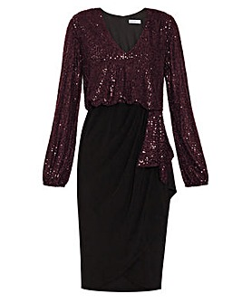 Gina Bacconi Anara Sequin Jersey Dress