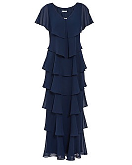 Gina Bacconi Areka Tiered Maxi Dress
