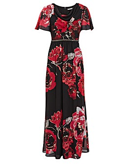 Gina Bacconi Mallie Floral Maxi Dress