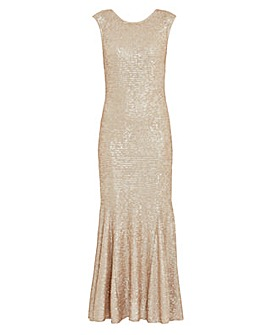 Gina Bacconi Basanti Sequin Maxi Dress