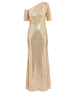 Gina Bacconi Erin Sequin Maxi Dress