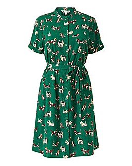 Yumi Curves Dog Shirt Dress