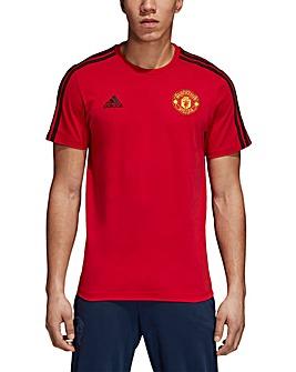MUFC Adidas 3 Stripe Tee