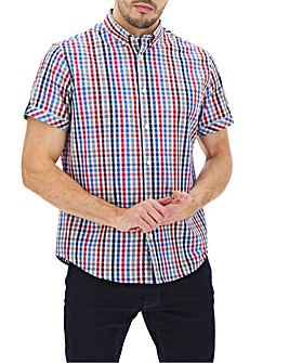 Blue/Red Short Sleeve Check Shirt