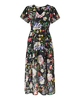 Yumi Curves Floral Midi Dress